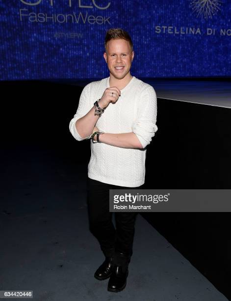 Andrew Werner attends Malan Breton Front Row during New York Fashion Week at Madison Square Garden Theater on February 9 2017 in New York City