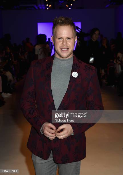 Andrew Werner attends the Chromat collection Front Row during New York Fashion Week The Shows at Gallery 3 Skylight Clarkson Sq on February 10 2017...