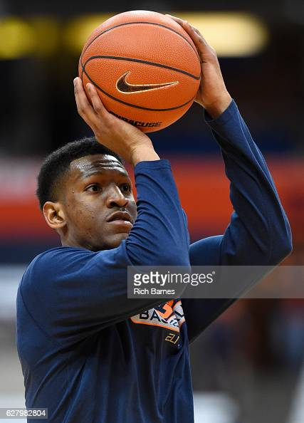 Andrew White III of the Syracuse Orange warms up prior to the game against the North Florida Ospreys at the Carrier Dome on December 3 2016 in...