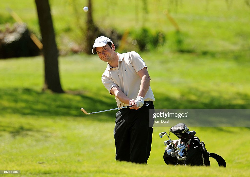 <a gi-track='captionPersonalityLinkClicked' href=/galleries/search?phrase=Andrew+White&family=editorial&specificpeople=93075 ng-click='$event.stopPropagation()'>Andrew White</a> of Thorndon Park Golf Club chips onto the 15th green during the Powerade PGA Assistants' Championship East Regional Qualifier at Chigwell Golf Club on May 01, 2013 in Chigwell, England.