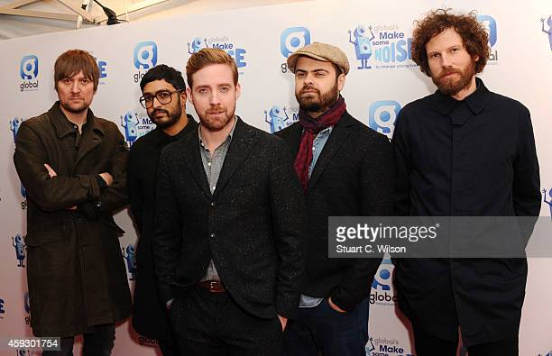Andrew White Vijay Mistry Ricky Wilson Nicholas 'Peanut' Baines and Simon Rix of The Kaiser Chiefs attend the Global Make Some Noise event at...