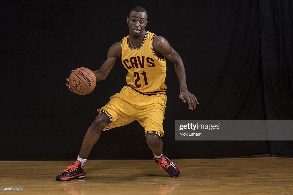 Andrew Wiggins #21 of the Cleveland Cavaliers poses for a portrait during the 2014 NBA rookie photo shoot at MSG Training Center on August 3, 2014 in Tarrytown, New York.
