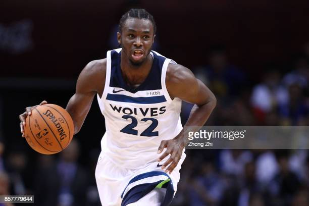 Andrew Wiggins of the Minnesota Timberwolves in action during the game between the Minnesota Timberwolves and the Golden State Warriors as part of...