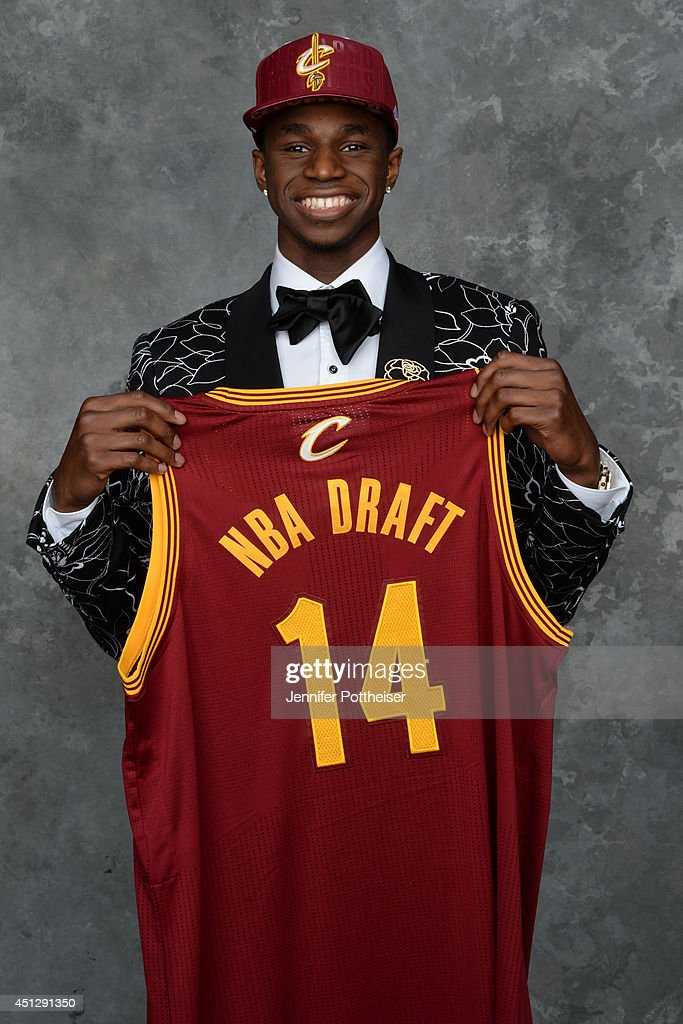 <a gi-track='captionPersonalityLinkClicked' href=/galleries/search?phrase=Andrew+Wiggins&family=editorial&specificpeople=7720937 ng-click='$event.stopPropagation()'>Andrew Wiggins</a>, the first pick overall in the NBA Draft by the Cleveland Cavaliers, poses for a portrait during the 2014 NBA Draft at the Barclays Center on June 26, 2014 in the Brooklyn borough of New York City.