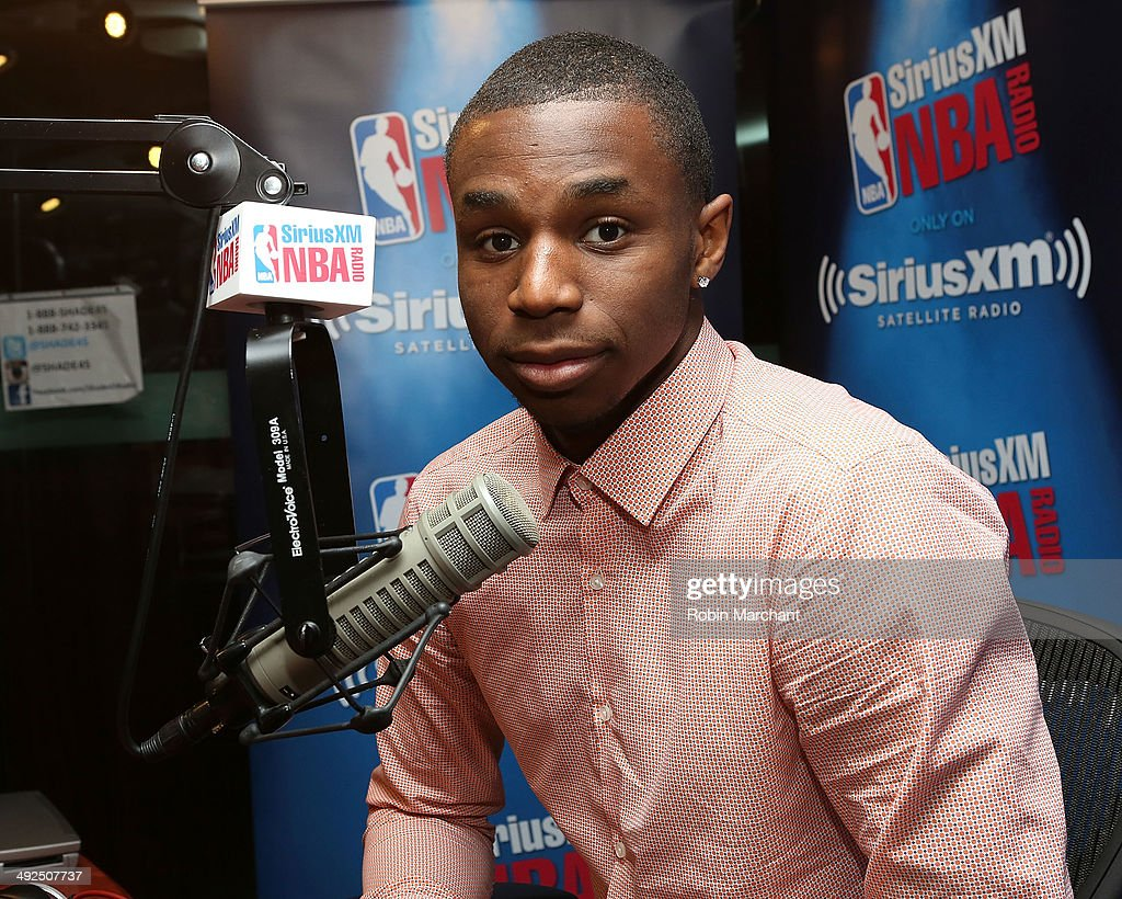Andrew Wiggins visits at SiriusXM Studios on May 20, 2014 in New York City.