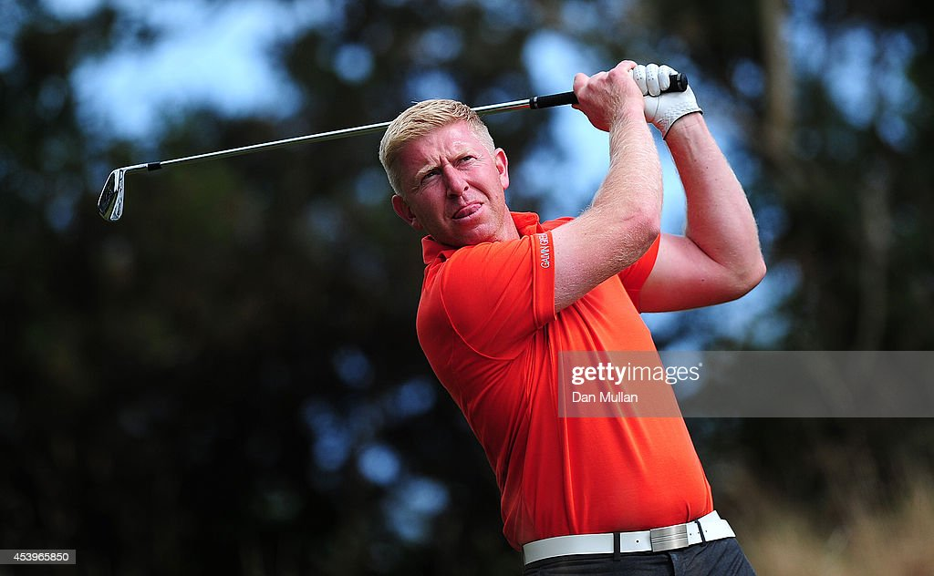 Andrew Willey of Bulwell Forest Golf Club plays a shot on the 11th hole during day three of the Golfbreakscom PGA Fourball Championship at St Mellion...