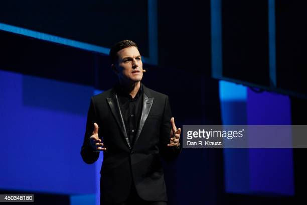 Andrew Wilson EA Chief Executive Officer speaks during the EA press conference for the Electronic Entertainment Expo at Shrine Auditorium June 9 2014...