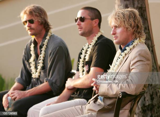 Andrew Wilson Luke Wilson and Owen Wilson during 2005 Maui Film Festival Day Two Sponsored by Bombay Sapphire at Fairmont Kea Lani HotelThe Regent...