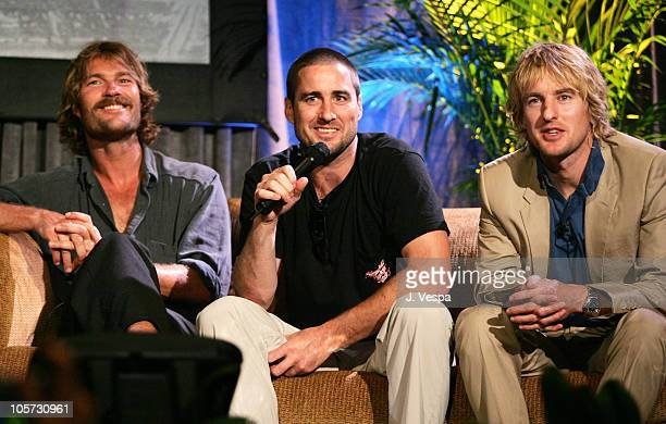 Andrew Wilson Luke Wilson and Owen Wilson during 2005 Maui Film Festival Tribute to the Wilson Brothers at Marriott Wailea in Maui Hawaii United...