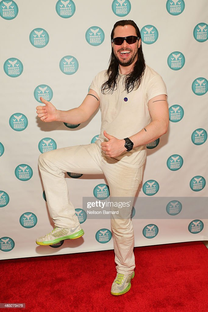 <a gi-track='captionPersonalityLinkClicked' href=/galleries/search?phrase=Andrew+W.K.&family=editorial&specificpeople=609488 ng-click='$event.stopPropagation()'>Andrew W.K.</a> attends the 6th Annual Shorty Awards on April 7, 2014 in New York City.