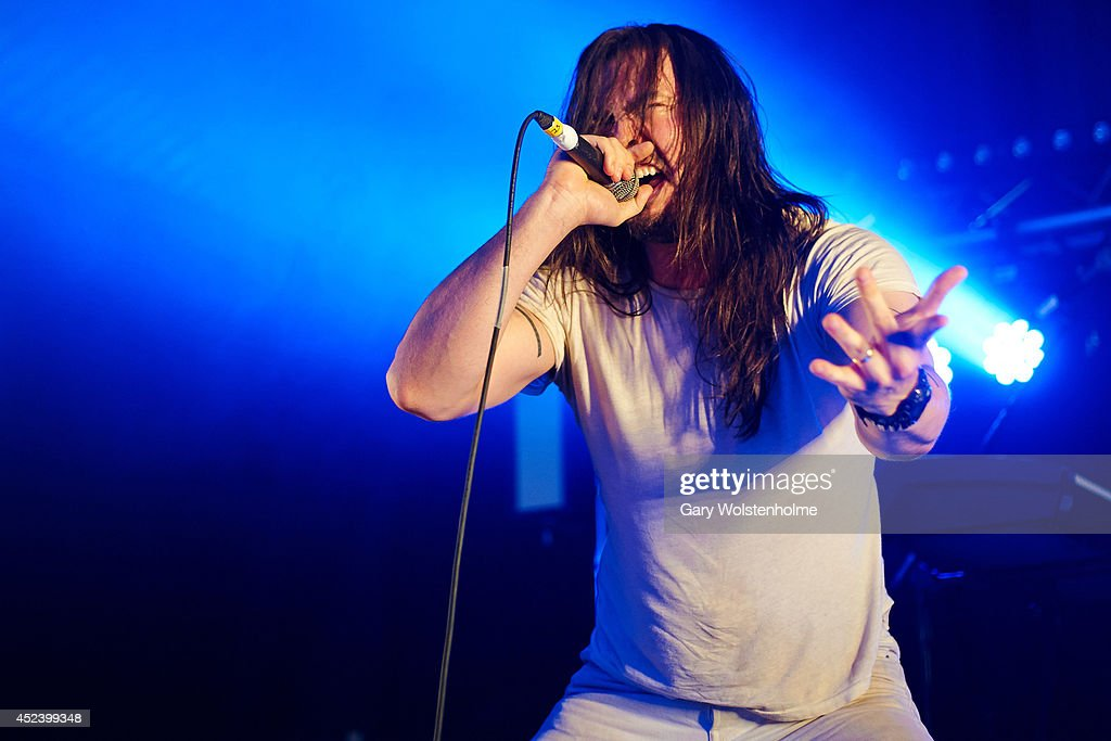 Andrew W.K. performs on stage at Truck Festival at Hill Farm on July 19, 2014 in Steventon, United Kingdom.