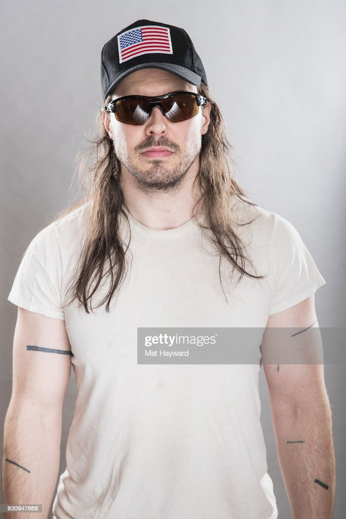 Andrew W.K. poses for a portrait backstage during the Summer Camp Music Festival hosted by 107.7 The End at Marymoor Park on August 12, 2017 in Redmond, Washington.