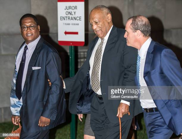 Andrew Wyatt actor Bill Cosby and Criminal defense attorney Brian McMonagle are seen leaving Montgomery County Courthouse as Bill Cosby Trial...