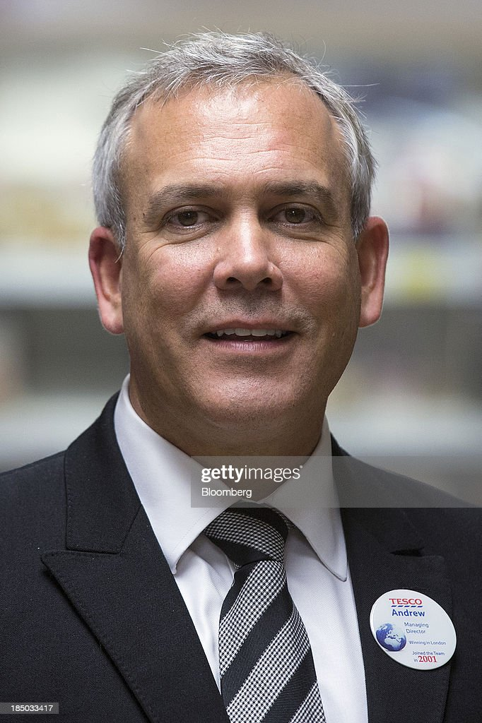 Andrew Yaxley managing director for London at Tesco Plc poses for a photograph insied one of the company's Tesco Metro stores in London UK on...