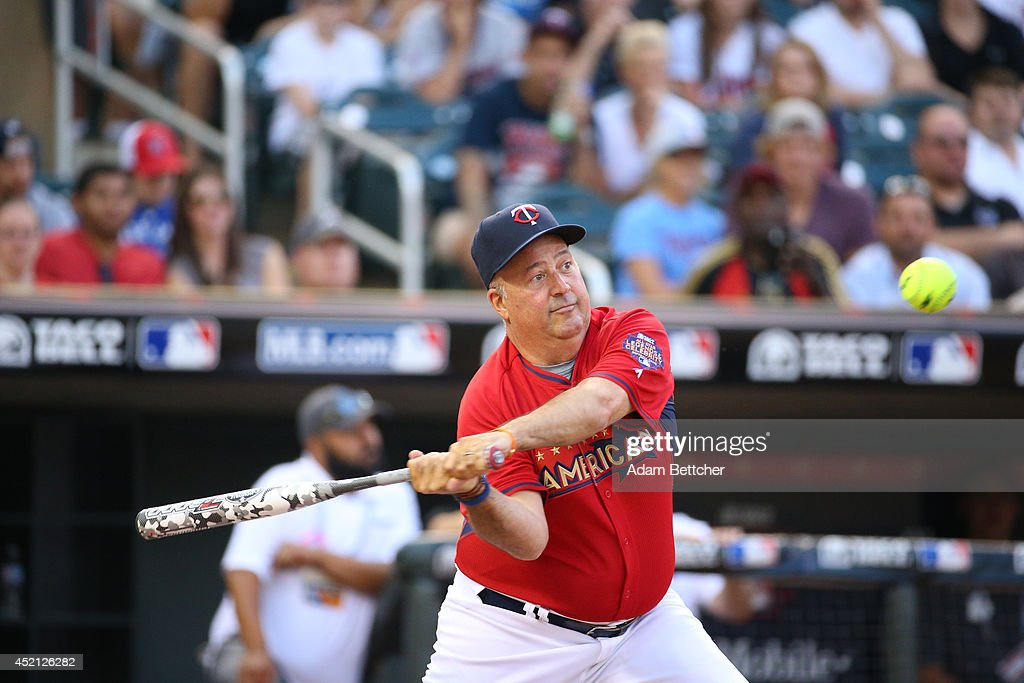 <a gi-track='captionPersonalityLinkClicked' href=/galleries/search?phrase=Andrew+Zimmern&family=editorial&specificpeople=4525179 ng-click='$event.stopPropagation()'>Andrew Zimmern</a> at the 2014 MLB All-Star legends and celebrity softball game on July 13, 2014 at the Target Field in Minneapolis, Minnesota.