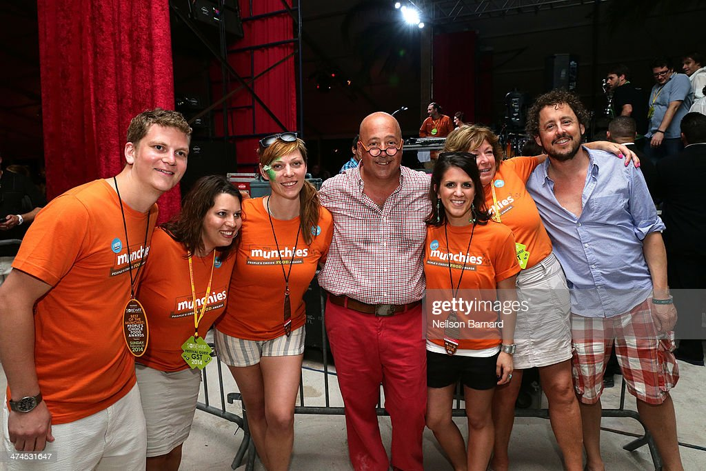 <a gi-track='captionPersonalityLinkClicked' href=/galleries/search?phrase=Andrew+Zimmern&family=editorial&specificpeople=4525179 ng-click='$event.stopPropagation()'>Andrew Zimmern</a> (C) attends Best of The Munchies: People's Choice Food Awards Presented by PepsiCo Hosted by <a gi-track='captionPersonalityLinkClicked' href=/galleries/search?phrase=Andrew+Zimmern&family=editorial&specificpeople=4525179 ng-click='$event.stopPropagation()'>Andrew Zimmern</a> during the Food Network South Beach Wine & Food Festival at Beachside at The Ritz Carlton on February 23, 2014 in Miami Beach, Florida.