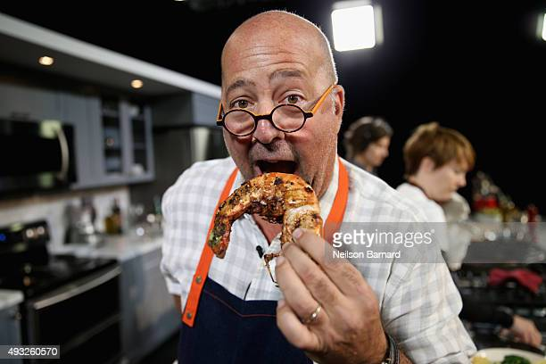 Andrew Zimmern attends the Grand Tasting presented by ShopRite featuring Samsung Culinary Demonstrations presented by MasterCard® Food Network...