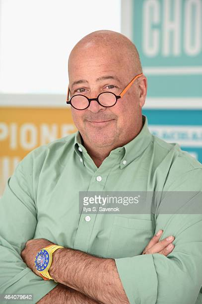 Andrew Zimmern poses at the KitchenAid Culinary Demonstrations during the 2015 Food Network Cooking Channel South Beach Wine Food Festival presented...