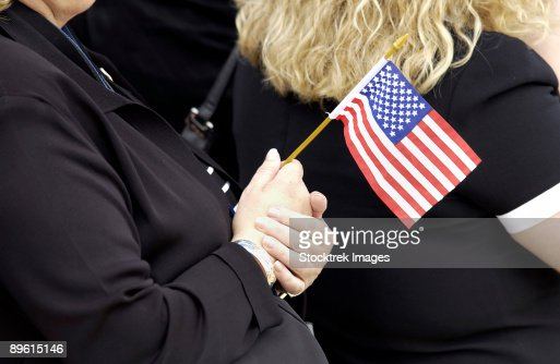Andrews Air Force Base, Maryland - Americans are reminded of those who have died for the freedom the American flag represents as they celebrate Flag Day.   : Stock Photo