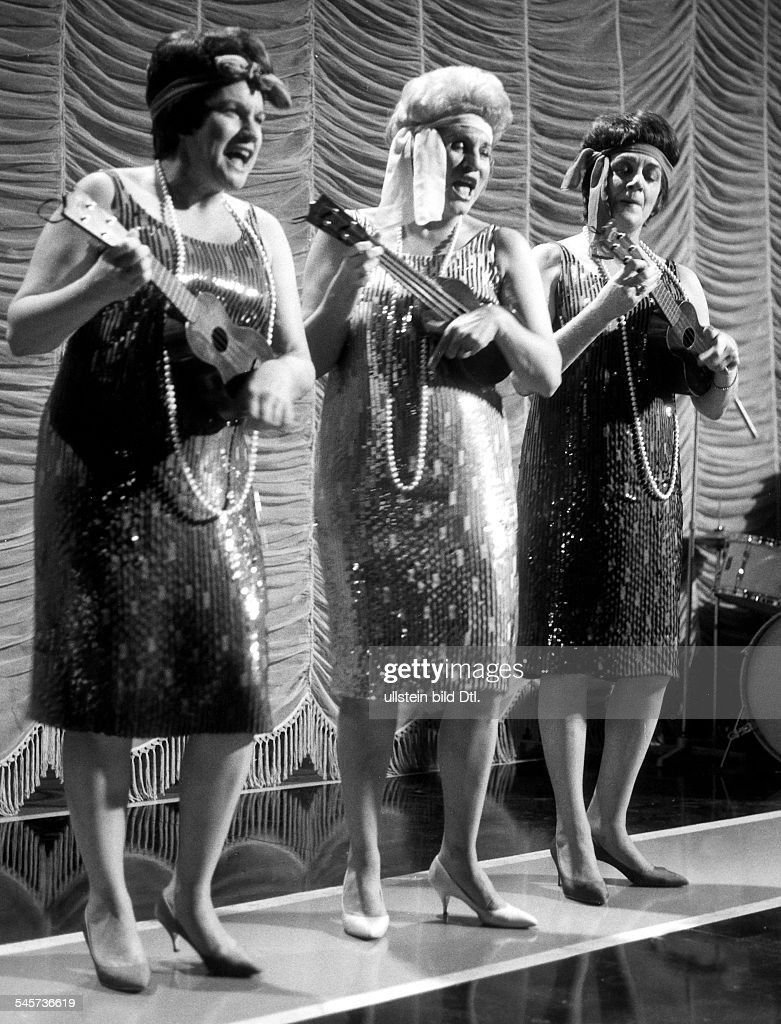 <a gi-track='captionPersonalityLinkClicked' href=/galleries/search?phrase=Andrews+Sisters&family=editorial&specificpeople=93076 ng-click='$event.stopPropagation()'>Andrews Sisters</a>, Singers, USAon stage during a TV show; from left: Maxene, Patty, Laverne