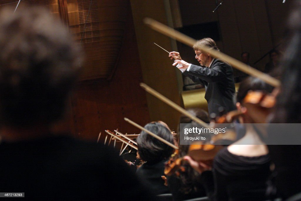 Andrey Boreyko leading the New York Philharmonic at Avery Fisher Hall on Thursday night January 16 2001This imageAndrey Boreyko leading the New York...
