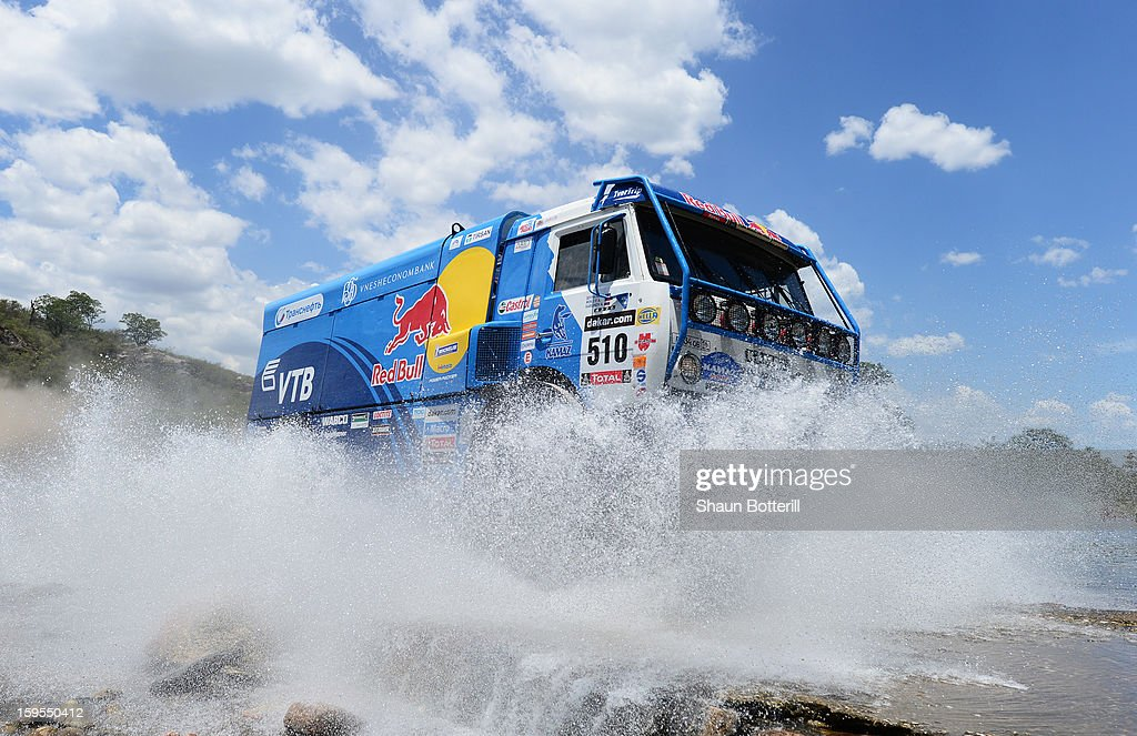 Andrey Karginov of team Kamaz competes in stage 10 from Cordoba to La Rioja during the 2013 Dakar Rally on January 15, 2013 in Cordoba, Argentina.