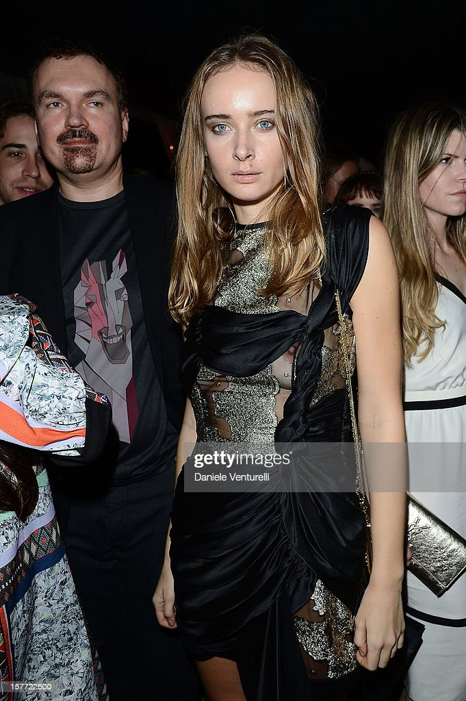 Andrey Strukov and Olga Sorokina attend Chanel beachside BBQ celebrating Art.sy at Soho Beach House on December 5, 2012 in Miami Beach, Florida.