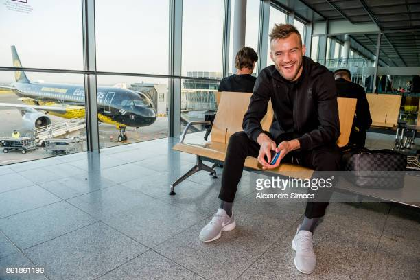 Andrey Yarmolenko of Borussia Dortmund before flying to Nicosia for the UEFA Champions League First Qualifying Round 1st Leg match between APOEL...