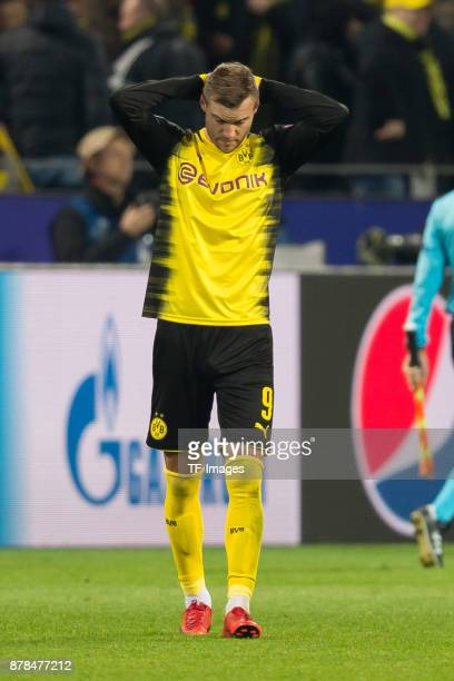 Andrey Yarmolenko of Borussia Dortmund gestures during the UEFA Champions League group H match between Borussia Dortmund and Tottenham Hotspur at...