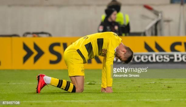 Andrey Yarmolenko of Borussia Dortmund in action during the Bundesliga match between VfB Stuttgart and Borussia Dortmund at MercedesBenz Arena on...