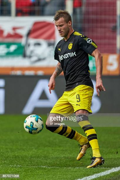 Andrey Yarmolenko of Dortmund controls the ball during the Bundesliga match between FC Augsburg and Borussia Dortmund at WWKArena on September 30...
