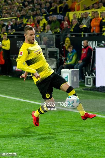 Andrey Yarmolenko of Dortmund controls the ball during the German Bundesliga match between Borussia Dortmund v Bayern Munchen at the Signal Iduna...