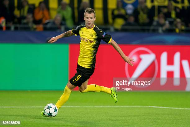 Andrey Yarmolenko of Dortmund controls the ball during the UEFA Champions League group H match between Borussia Dortmund and Real Madrid at Signal...