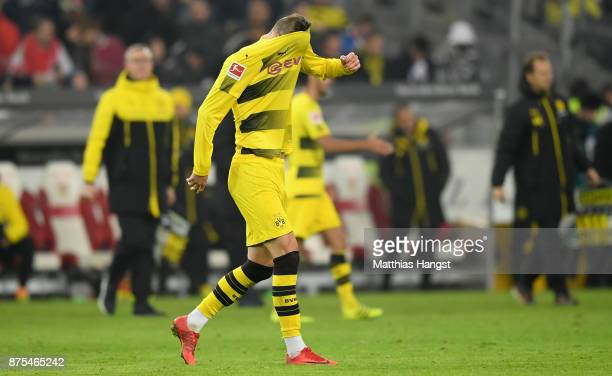 Andrey Yarmolenko of Dortmund looks dejected after loosing the Bundesliga match between VfB Stuttgart and Borussia Dortmund at MercedesBenz Arena on...