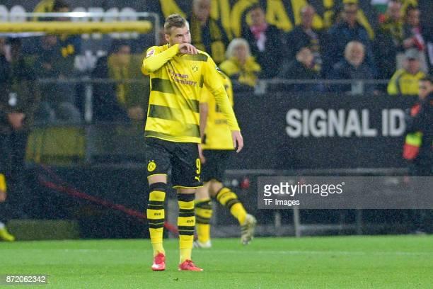 Andrey Yarmolenko of Dortmund looks dejected during the German Bundesliga match between Borussia Dortmund v Bayern Munchen at the Signal Iduna Park...