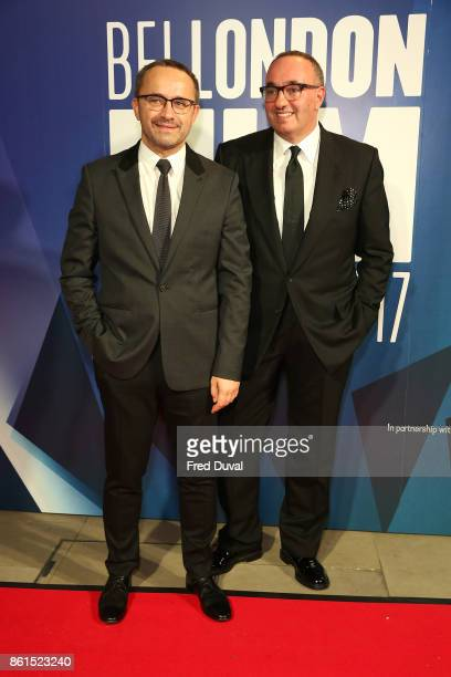 Andrey Zvyagintsev and Alexander Rodnyansky attend the 61st BFI London Film Festival Awards on October 14 2017 in London England