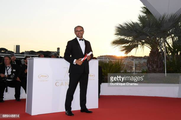 Andrey Zvyagintsev who won the Prix Du Jury for the movie 'Loveless' attends the Palme D'Or winner photocall during the 70th annual Cannes Film...