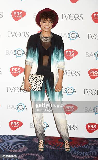 Andreya Triana arrives for the Ivor Novello Awards at Grosvenor House on May 19 2016 in London England