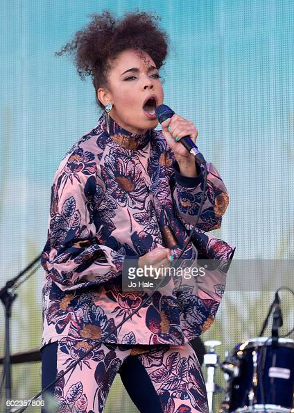 Andreya Triana performs on stage with Fran Healy and Travis at BBC R2 Live at Hyde Park on September 11 2016 in London England