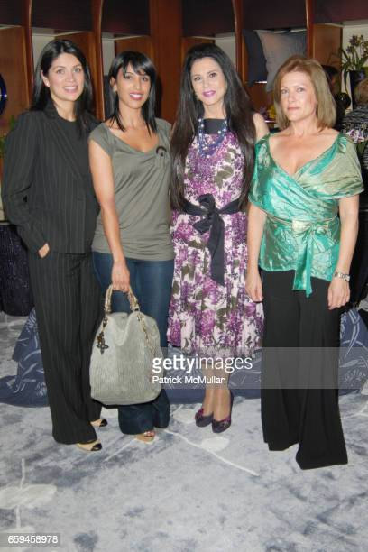 Andria Aal Samia Arslane Barbara Lazaroff and Cecilia Moreno attend FRETTE Beverly Hills Designer Event at FRETTE on September 10 2009 in Beverly...