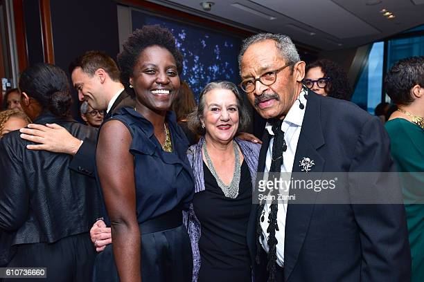 Andrianna Campbell Mary Whitten and Jack Whitten attend Abstracted Black Tie Dinner Hosted by Pamela Joyner Fred Giuffrida and the Ogden Museum of...