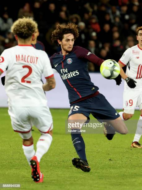 Andrien Rabiot of Paris SaintGermain in action during the Ligue 1 match between Paris Saint Germain and Lille OSC at Parc des Princes on December 9...