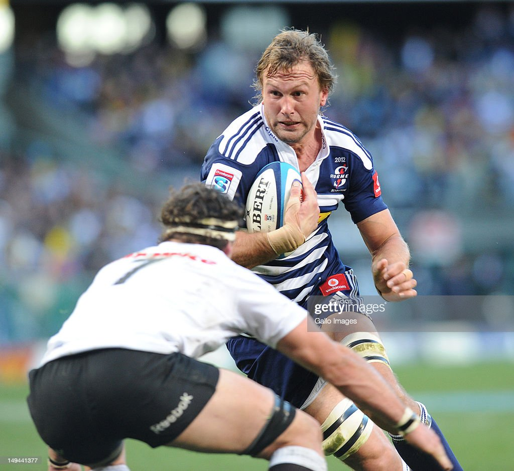Andries Bekker of the Stormers in action during the Super Rugby semi final match between DHL Stormers and The Sharks from DHL Newlands Stadium on...