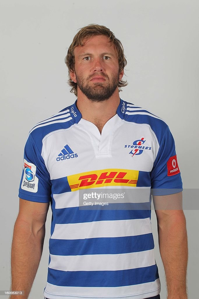 Andries Bekker poses during the official 2013 Stormers Headshots session on January 15 2013 in Durban South Africa