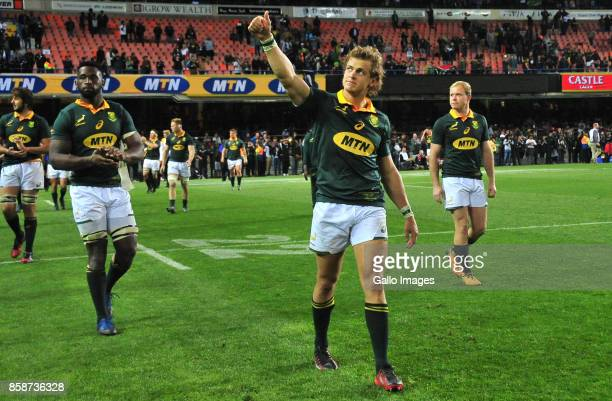Andries Coetzee of South Africa after the Rugby Championship 2017 match between South Africa and New Zealand at DHL Newlands on October 07 2017 in...