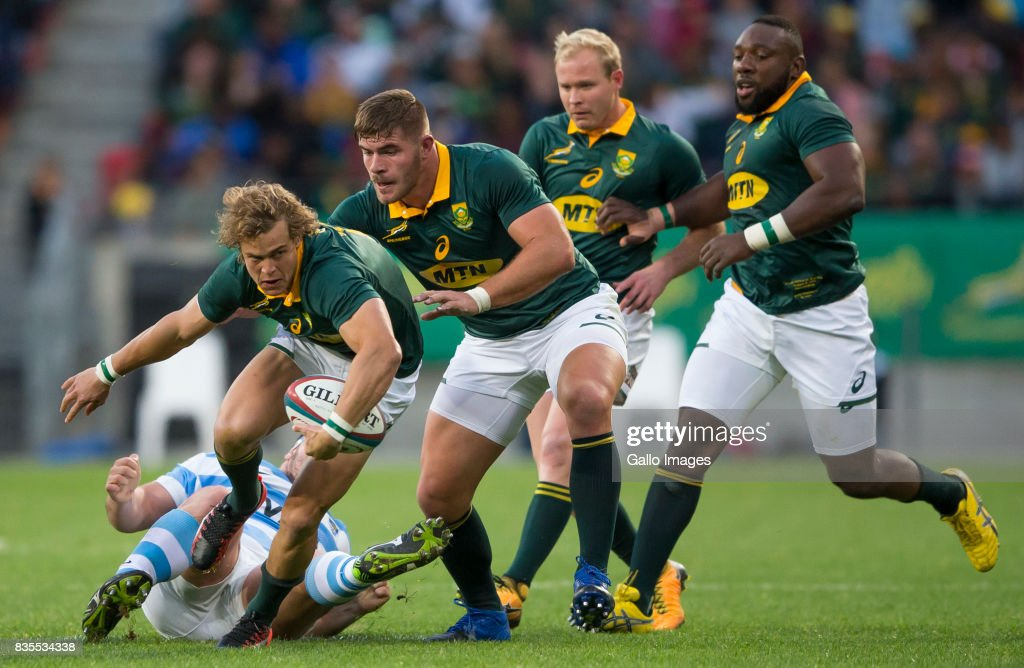 Andries Coetzee of the Springbok Team during the Rugby Championship match between South Africa and Argentina at Nelson Mandela Bay Stadium on August 19, 2017 in Port Elizabeth, South Africa.