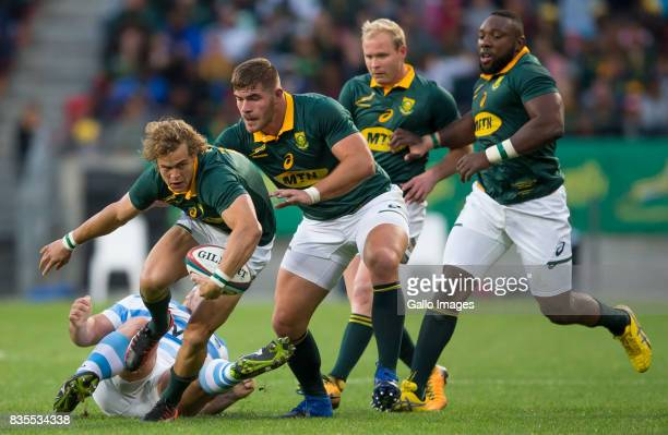Andries Coetzee of the Springbok Team during the Rugby Championship match between South Africa and Argentina at Nelson Mandela Bay Stadium on August...