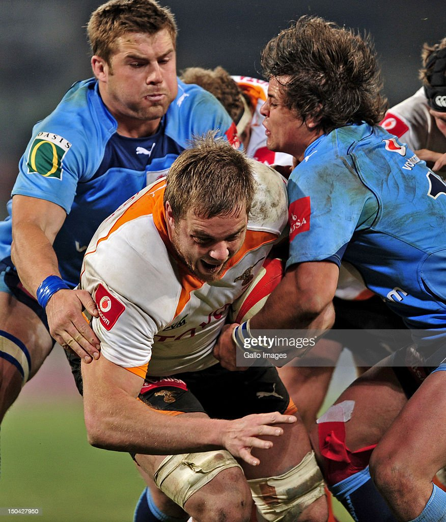 Andries Ferreira of the Cheetahs during the Absa Currie Cup match between Toyota Free State Cheetahs and Vodacom Blue Bulls at Free State Stadium on August 17, 2012 in Bloemfontein, South Africa.