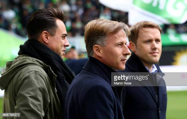 Andries Jonker head coach of Wolfsburg looks on before the Bundesliga match between VfL Wolfsburg and FC Ingolstadt 04 at Volkswagen Arena on April...