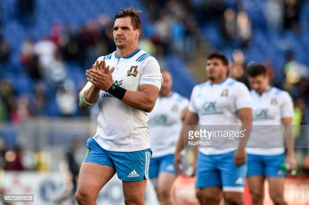 Andries Van Schalkwyk of Italy during the 2017 RBS Six Nations match between Italy and France at Stadio Olimpico Rome Italy on 11 March 2017